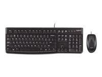 Logitech Desktop MK120 Tastatur og mus-sæt USB Nordisk