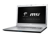 "MSI PE72 7RD 666 - Core i7 7700HQ / 2.8 GHz - Win 10 Pro - 32 GB RAM - 512 GB SSD + 1 TB HDD - 17.3"" 1920 x 1080 (Full HD) - NVIDIA GeForce GTX 1050 - 802.11ac - aluminum silver"