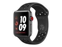 Apple Watch Nike+ Series 3 (GPS + Cellular) 42 mm rumgråt aluminium