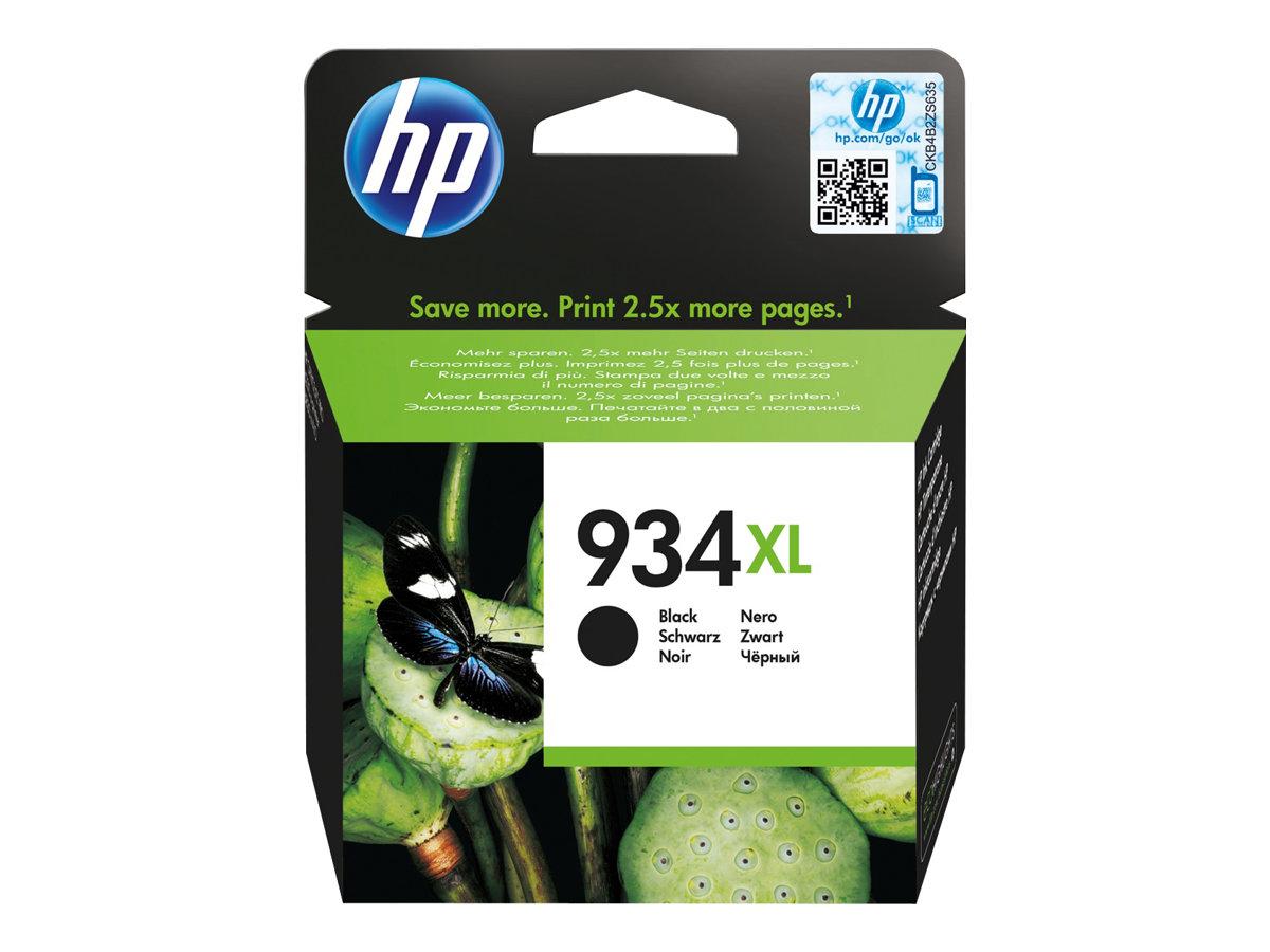 HP 934XL - à rendement élevé - noir - originale - cartouche d'encre