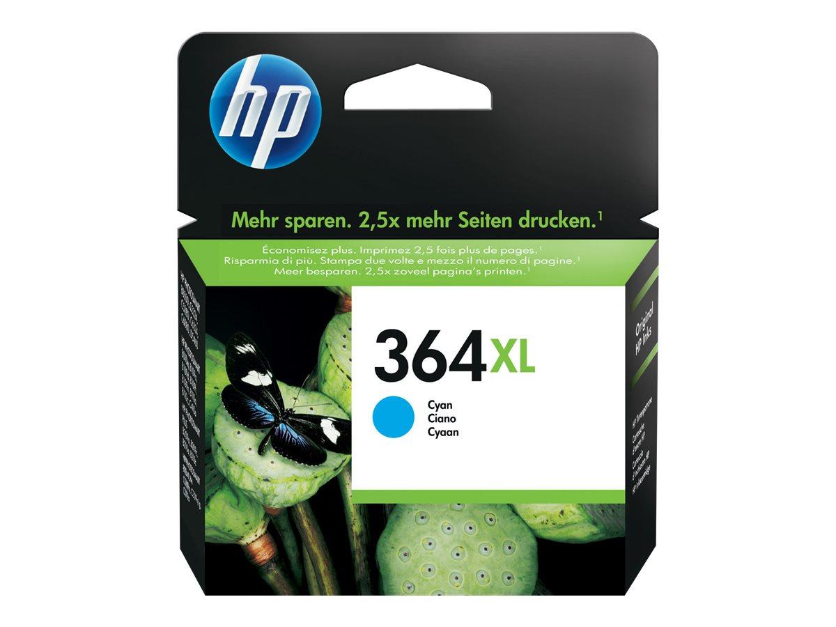 HP 364XL - à rendement élevé - cyan - originale - cartouche d'encre