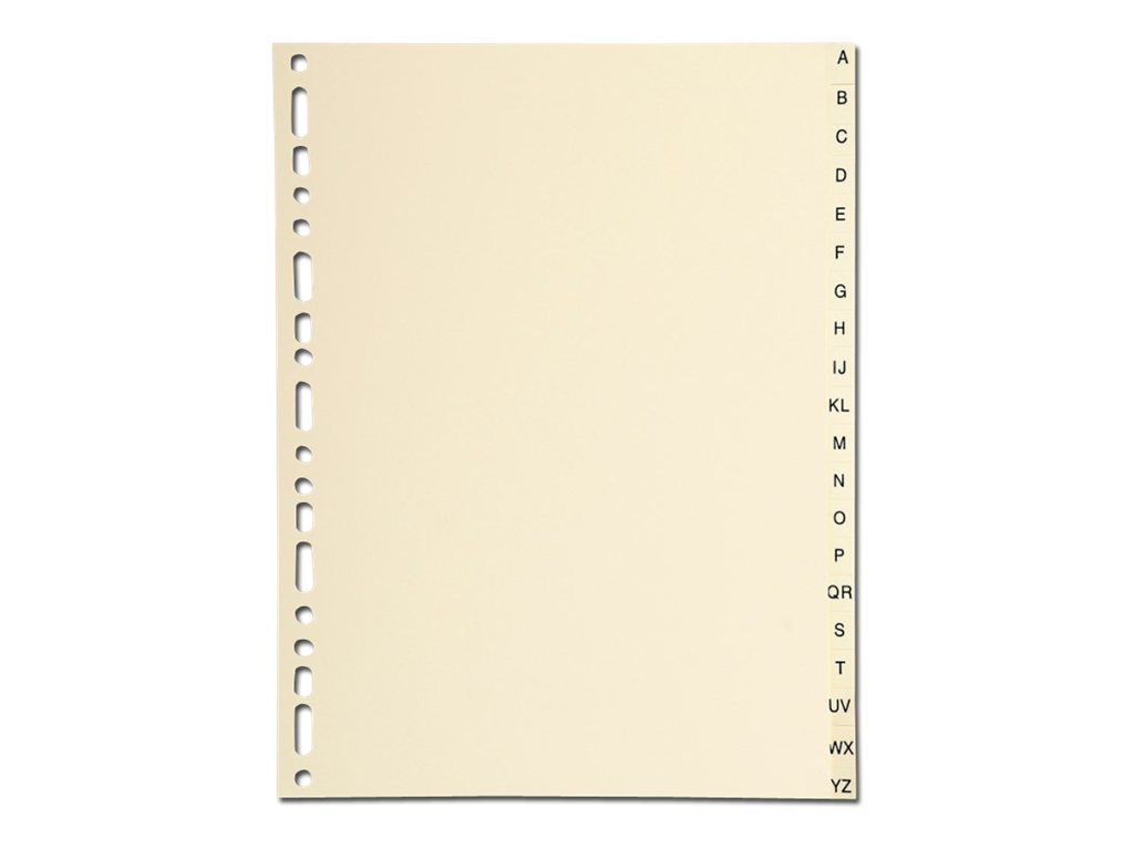 Exacompta - Intercalaire - 20 positions - Alphabétique - A-Z - A4 - à onglets - ivoire