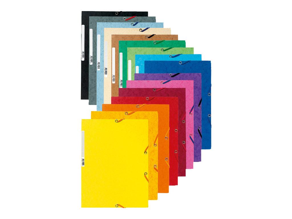 Exacompta nature future chemise 3 rabats couleur for Bureau vallee 64
