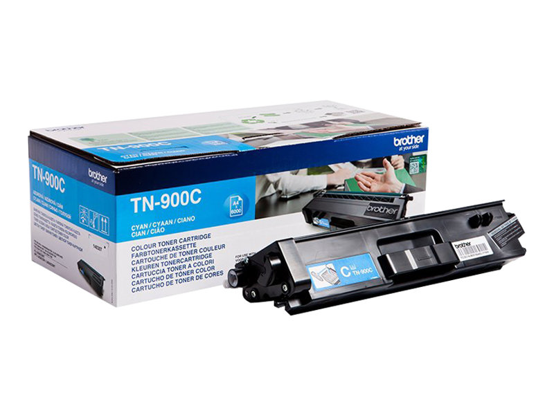 Brother TN900C - cyan - original - toner