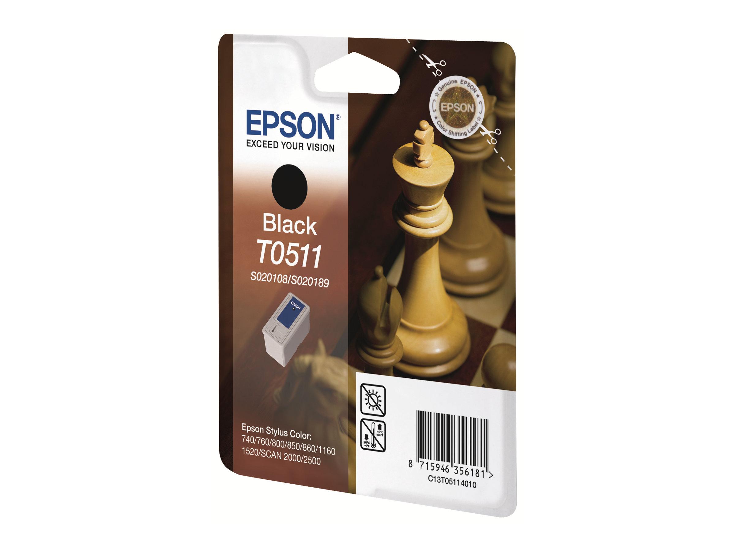 Epson T0511 Echec - noire - originale - cartouche d'encre