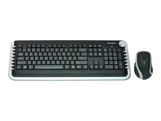 Image of Gear Head Wireless Keyboard & Laser Mouse KBL5925W - keyboard and mouse set