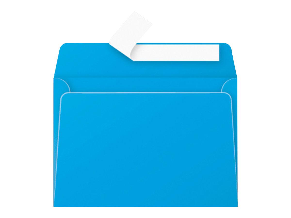 Pollen - Enveloppe - 114 x 162 mm - avec bande (auto-adhésif) - turquoise - pack de 20