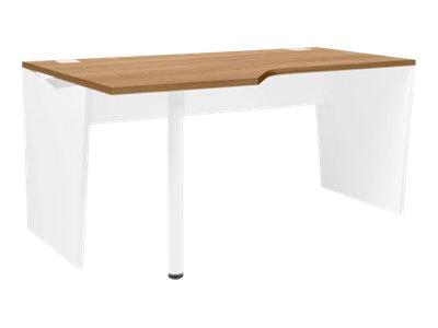 Gautier office YES - Bureau - rectangulaire arrondi (gauche) - merisier italien