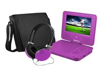"Ematic EPD707 - DVD player - portable - display: 7"" - purple"
