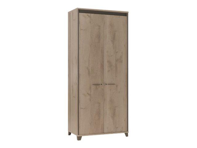 Gautier office mambo armoire haute 2 portes ch ne for Meuble bureau ferme
