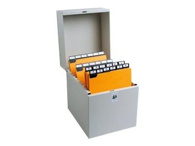 Exacompta Metalib - Boîte à fiches - 105 x 74 mm, 125 x 75 mm - pour 500 cartes - dune