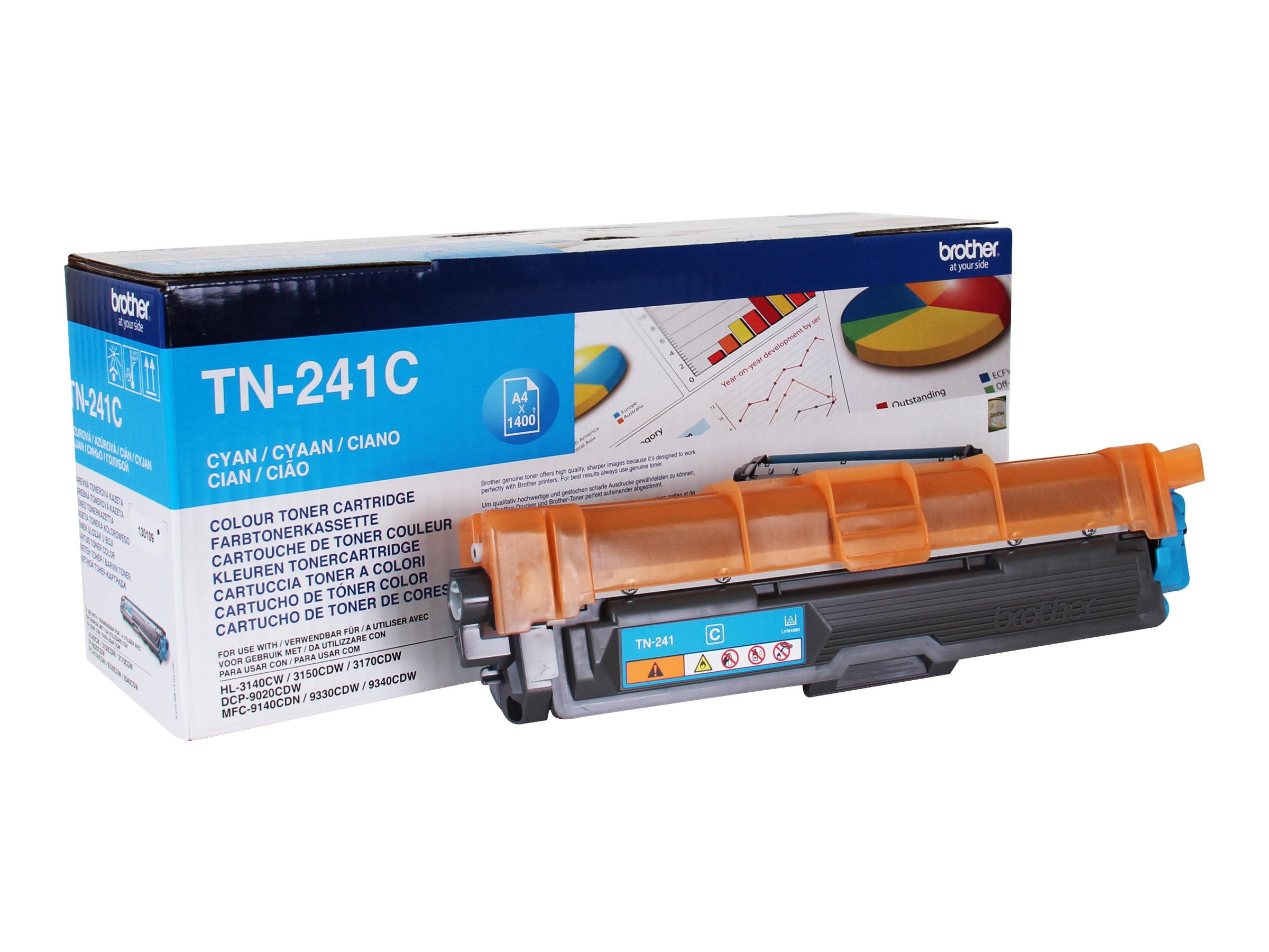 Brother TN241C - cyan - original - toner