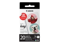 Canon ZINK Pre-cut Circle Sticker Pack - Self-adhesive - white - 2 in x 3 in 20 sheet(s) pre-cutted circle stickers - for