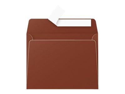 Pollen - Enveloppe - 90 x 140 mm - avec bande (auto-adhésif) - chocolat - pack de 20