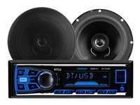 "BOSS 638BCK - Car - digital receiver - in-dash - Full-DIN - 50 Watts x 4 - with two 6.5"" speakers"