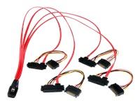 StarTech.com Câble Mini SAS Serial Attached SCSI interne 50cm- SFF-8087 vers 4SFF-8482