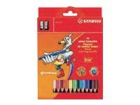Stabilo Trio thick - Crayons de couleur - couleurs assorties - 4.2 mm - par 12 ou 18