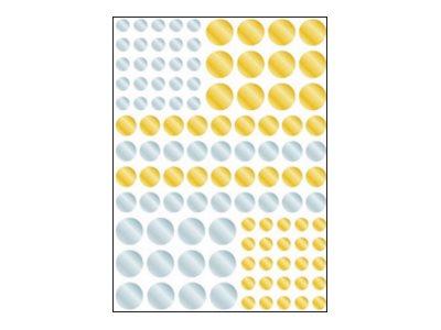 Oberthur Géométriques - 134 Gommettes - argenté, or