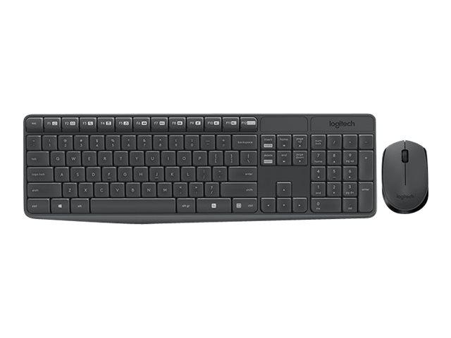 920-007921 - Logitech MK235 - Sats med tangentbord och mus - trådlös - 2.4  GHz - Pan Nordic 89f5e13dcd09d