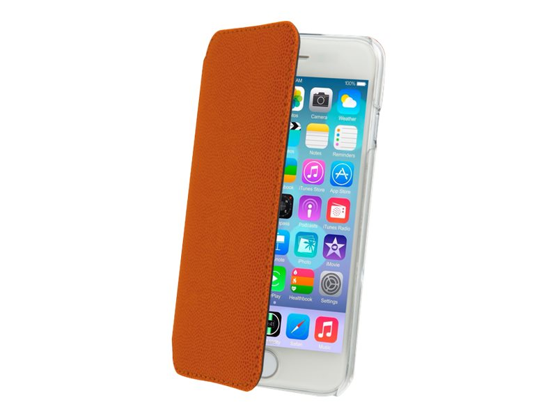 Muvit Made in Paris Crystal Folio - Protection à rabat pour iPhone 6 - orange