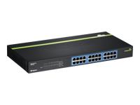 TRENDnet TEG S24G Switch 24 x 10/100/1000 monterbar på stativ