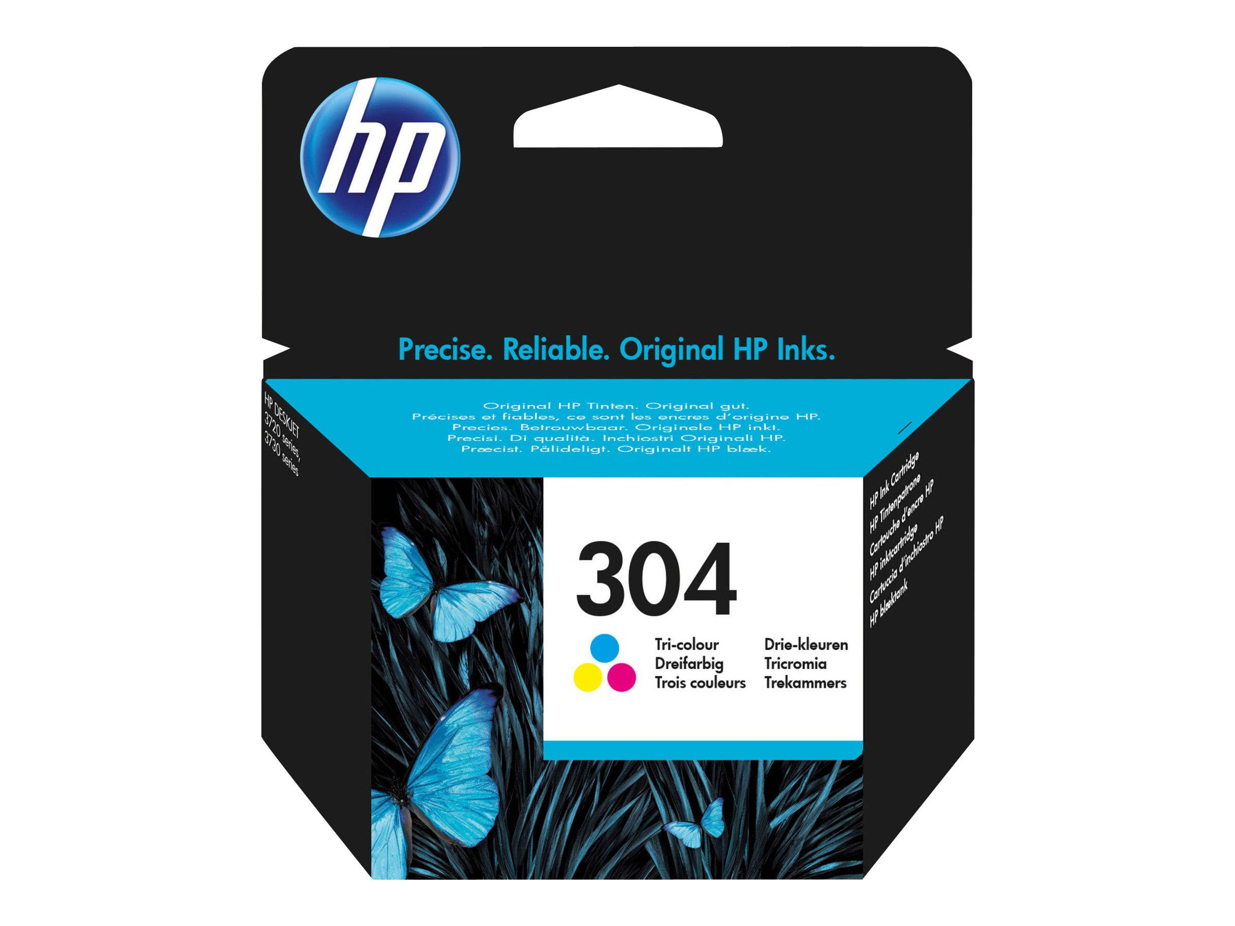 HP 304 - couleurs (cyan, magenta, jaune) - originale - cartouche d'encre