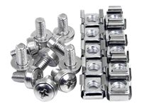 StarTech.com 50 Pkg M6 Mounting Screws and Cage Nuts for Server Rack Cabinet