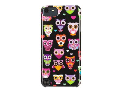 Griffin Wise Eyes - Protective cover for player - polycarbonate - black, pink - for Apple iPod touch (5G)