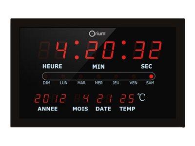 Orium - Horloge - rectangulaire - électronique - noir