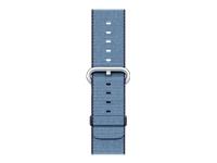 Apple 38mm Woven Nylon Band Urrem 125 195 mm marineblå, tahoe-blå