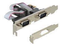 DeLock PCI Express Card 2 x Serial Seriel adapter PCIe lav profil
