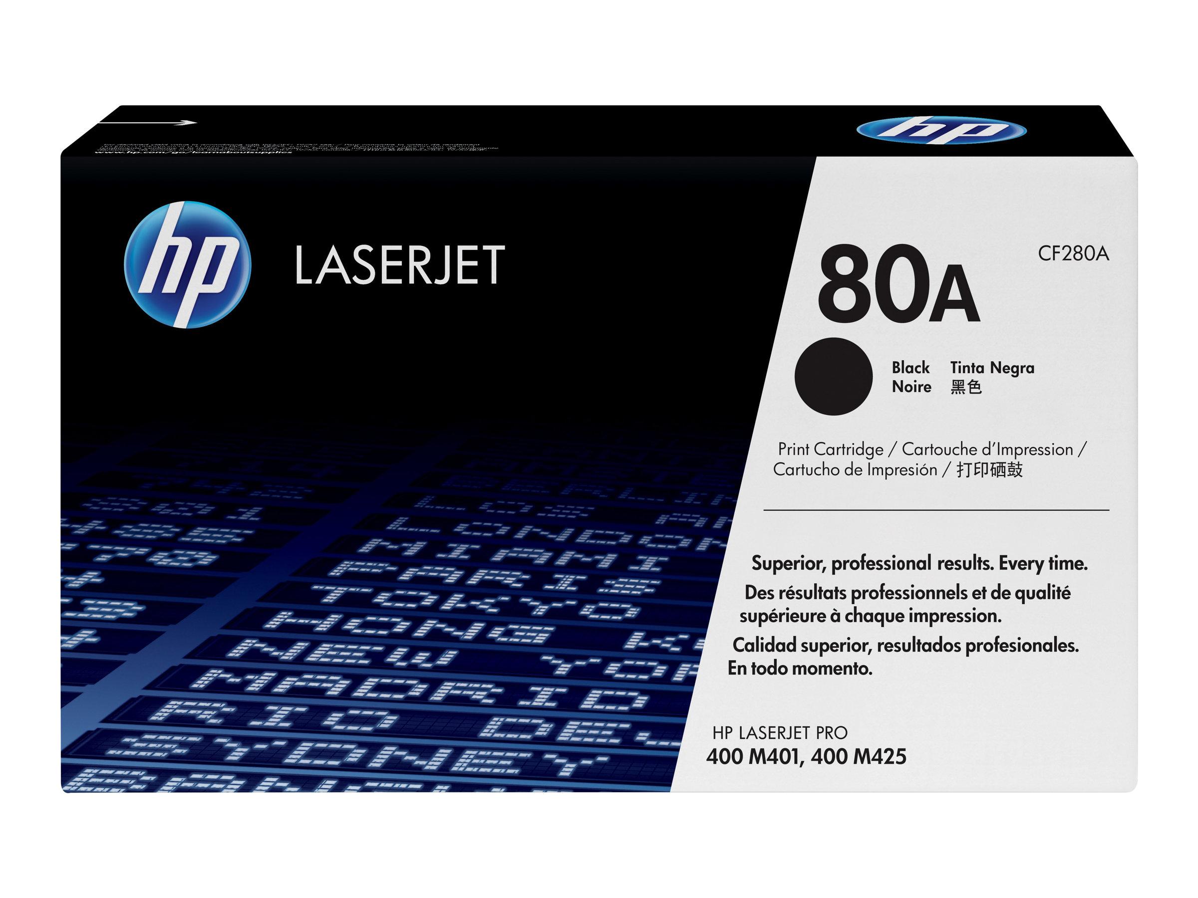 HP 80A - noir - originale - LaserJet - cartouche de toner (CF280A)