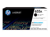 HP 655A - Black - original - LaserJet - toner cartridge (CF450A) - for Color LaserJet Enterprise M652, M653; LaserJet Enterprise Flow MFP M681, MFP M682