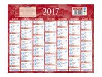 CBG Bleu & rouge 215 - bank calendar