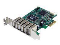 STARTECH - CARDS/HUBS/ADAPTER StarTech.com 7 Port PCI Express Low Profile High Speed USB 2.0 Adapter CardPEXUSB7LP