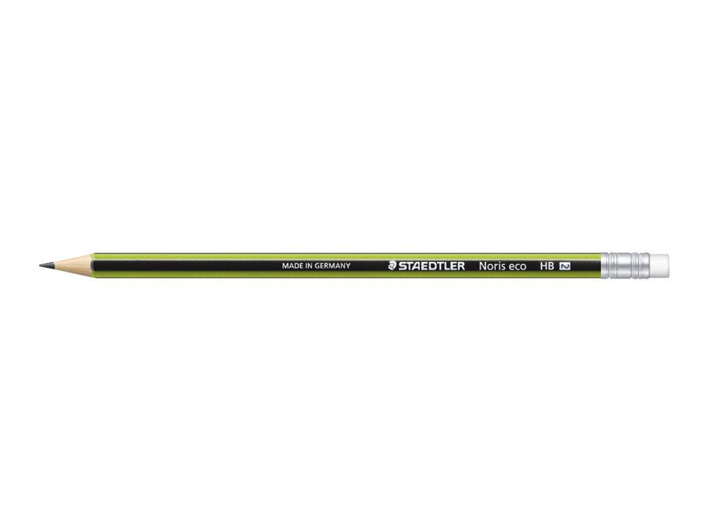 STAEDTLER Noris Eco - Crayon - Graphite - HB - Avec gomme