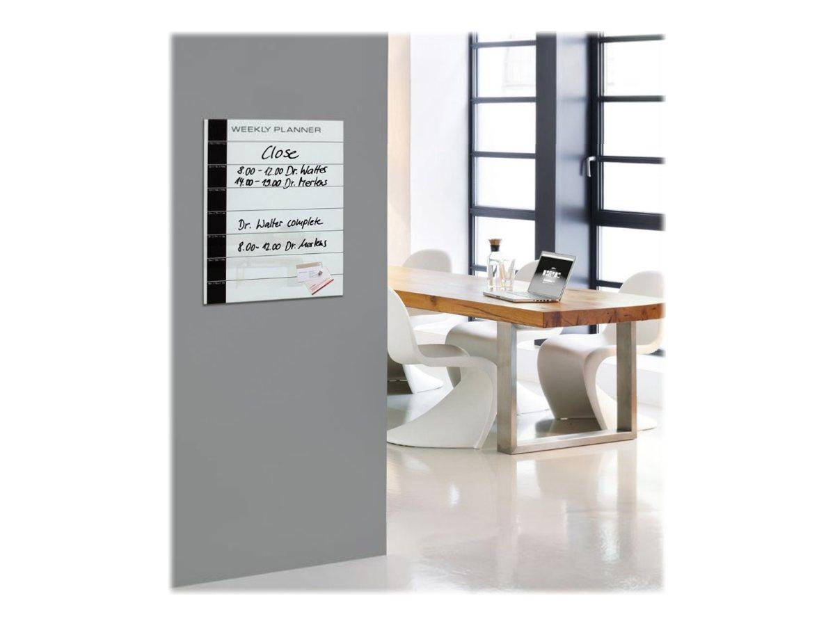 Sigel artverum memo tableau en verre 400 x 500 mm - Tableau memo en verre aimante ...