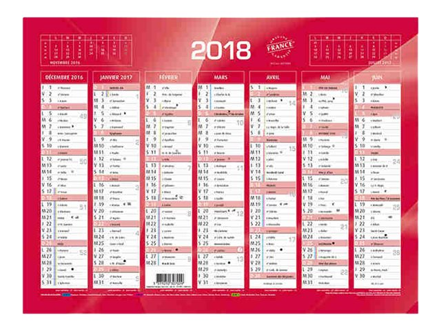 RAYNARD - Calendrier bancaire - 180 x 135 mm