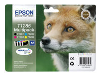 Epson T1285 Multipack 4 pakker sort, gul, cyan, magenta original