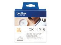Brother DK-11218 Sort på hvid