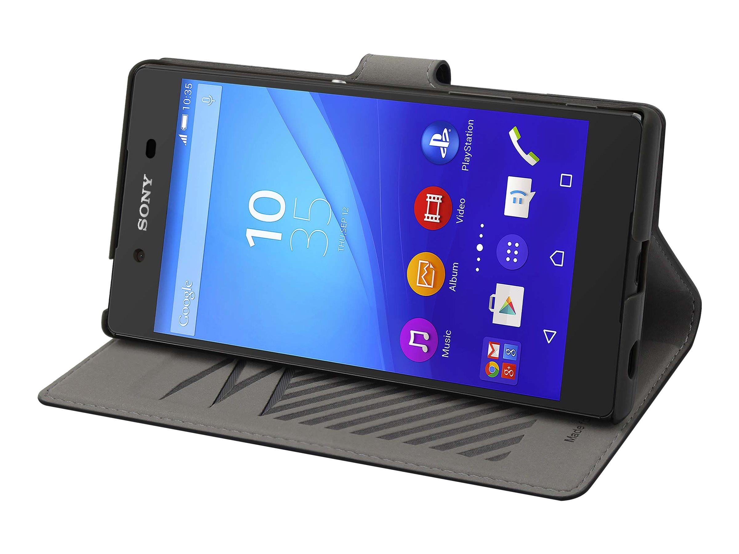 Muvit MFX slim s folio - Protection à rabat pour Sony XPERIA Z5 Premium - noir