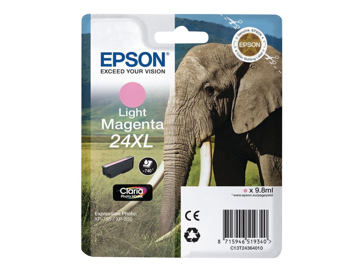 Epson 24XL - taille XL - magenta clair - originale - cartouche d'encre