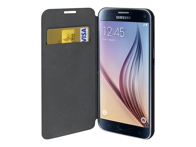 Muvit Folio - Protection à rabat pour Samsung Galaxy S7 - noir, transparent