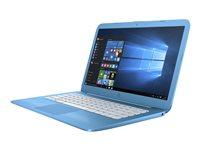 "HP Stream 14-ax010nr - Celeron N3060 / 1.6 GHz - Win 10 Home 64-bit - 4 GB RAM - 32 GB eMMC - 14"" 1366 x 768 (HD) - HD Graphics 400 - Wi-Fi, Bluetooth - aqua blue - kbd: US"