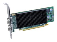 M9148 LP, 1GB, PCIe x16, low profile, 3x miniDP + DP adapter, pa