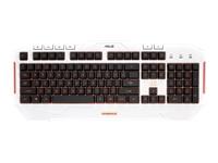 ASUS CERBERUS Arctic Tastatur bagbelyst USB Nordisk