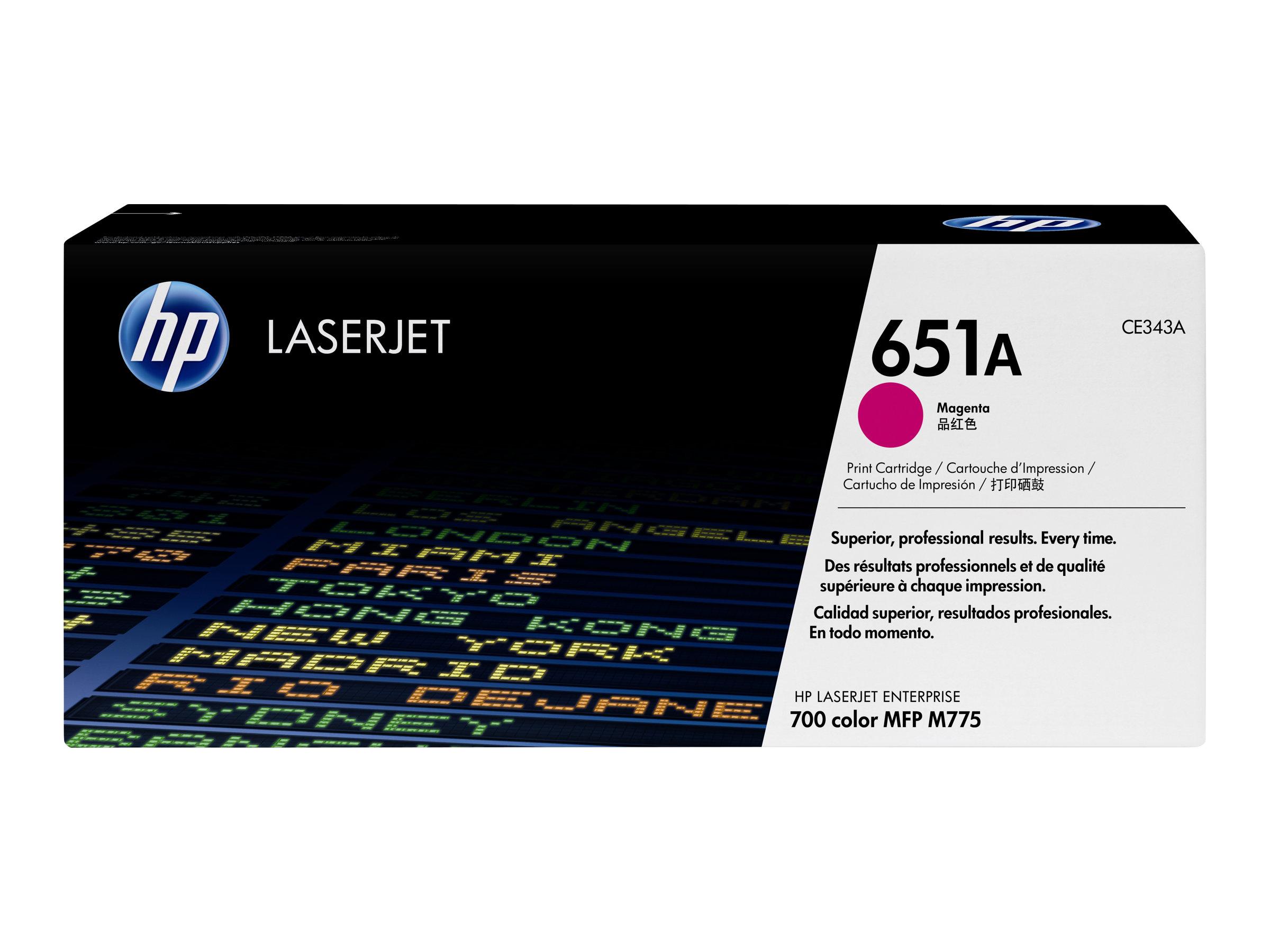 HP 651A - pack de 1 - 1 - magenta - originale - LaserJet - cartouche de toner (CE343A)