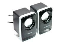 Gear Head SP1500USB Speakers - for portable use - 3 Watt (total) - black, silver - Speakers - for portable use - 3 Watt (total) - black, silver
