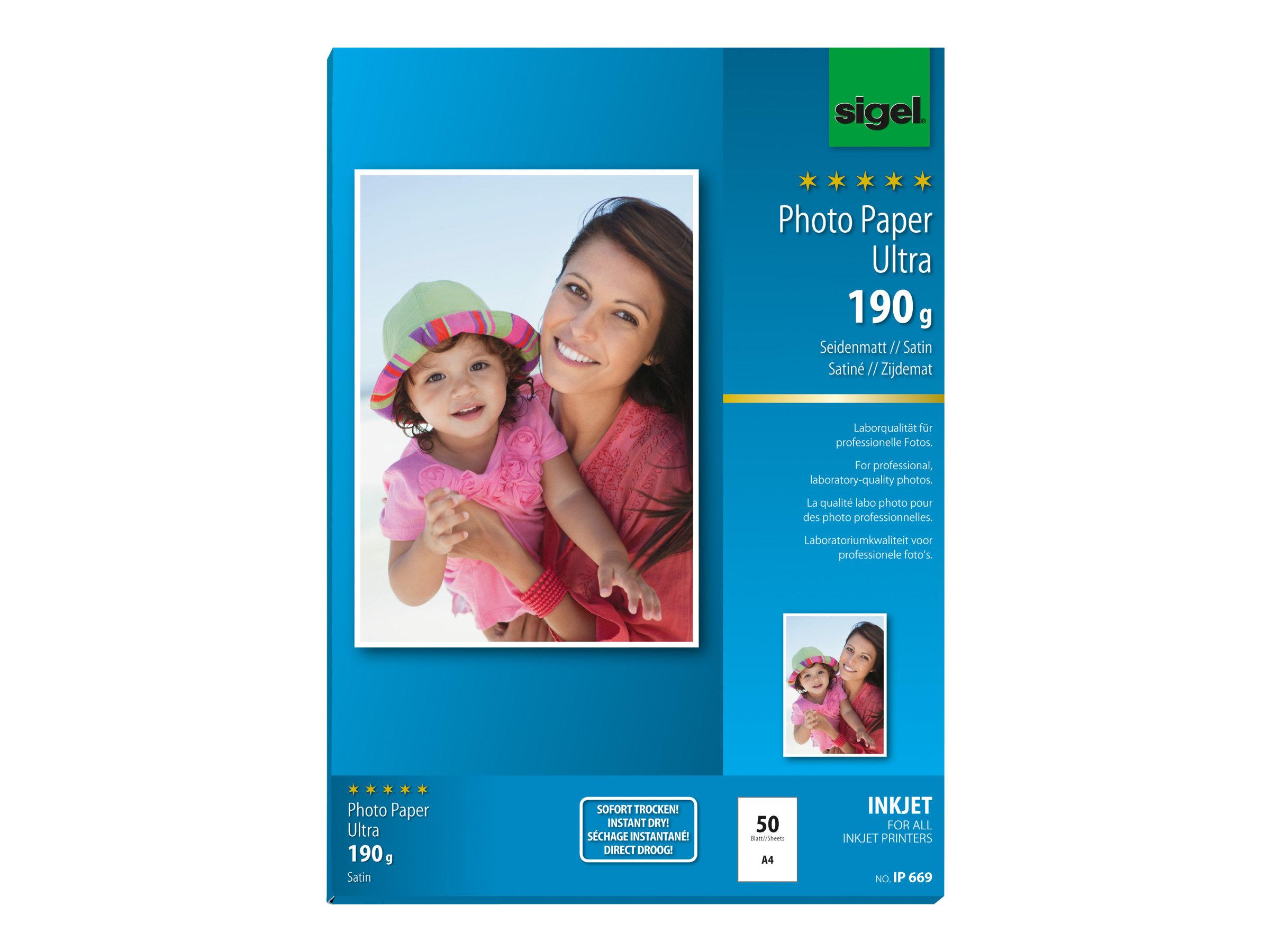Sigel InkJet Ultra Photo Paper IP669 - papier photo - 50 feuille(s)