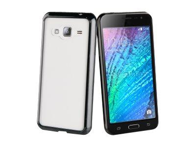 Muvit Crystal Bump - Coque de protection pour Samsung Galaxy J3 - noir, transparent